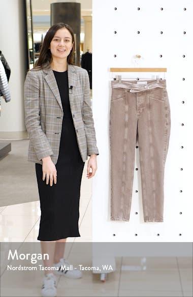 Foldover Waist Crop Mom Jeans, sales video thumbnail