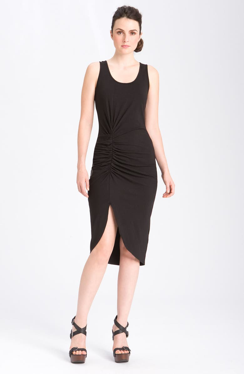 KAREN KANE Ruched Jersey Dress with Slit, Main, color, 001