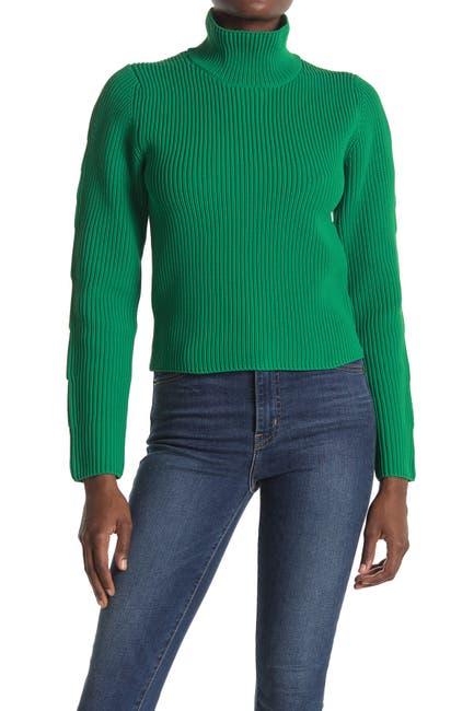 Image of Tibi Two-Way Long Sleeve Sweater