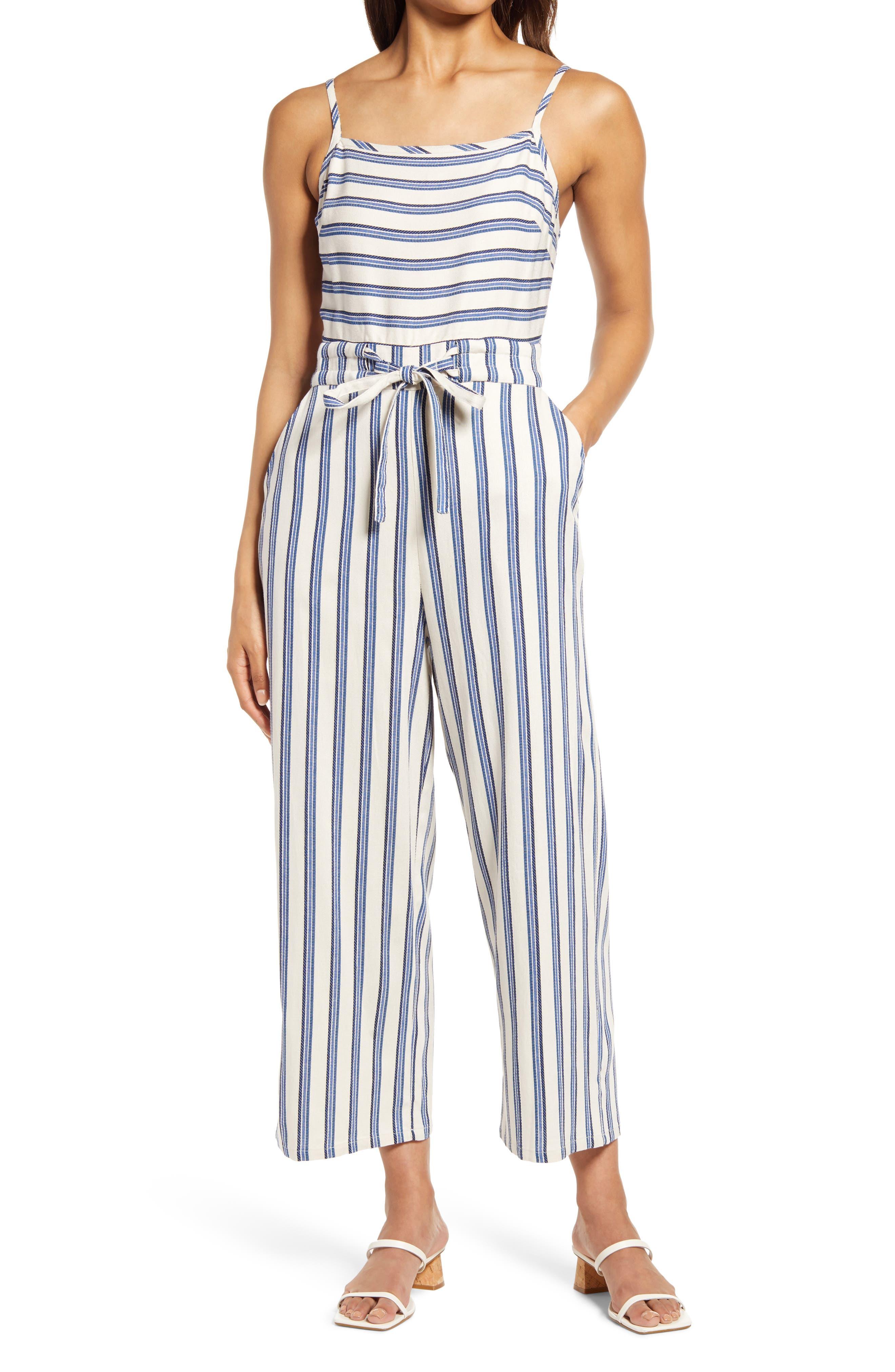 Yarn Dye Stripe Jumpsuit