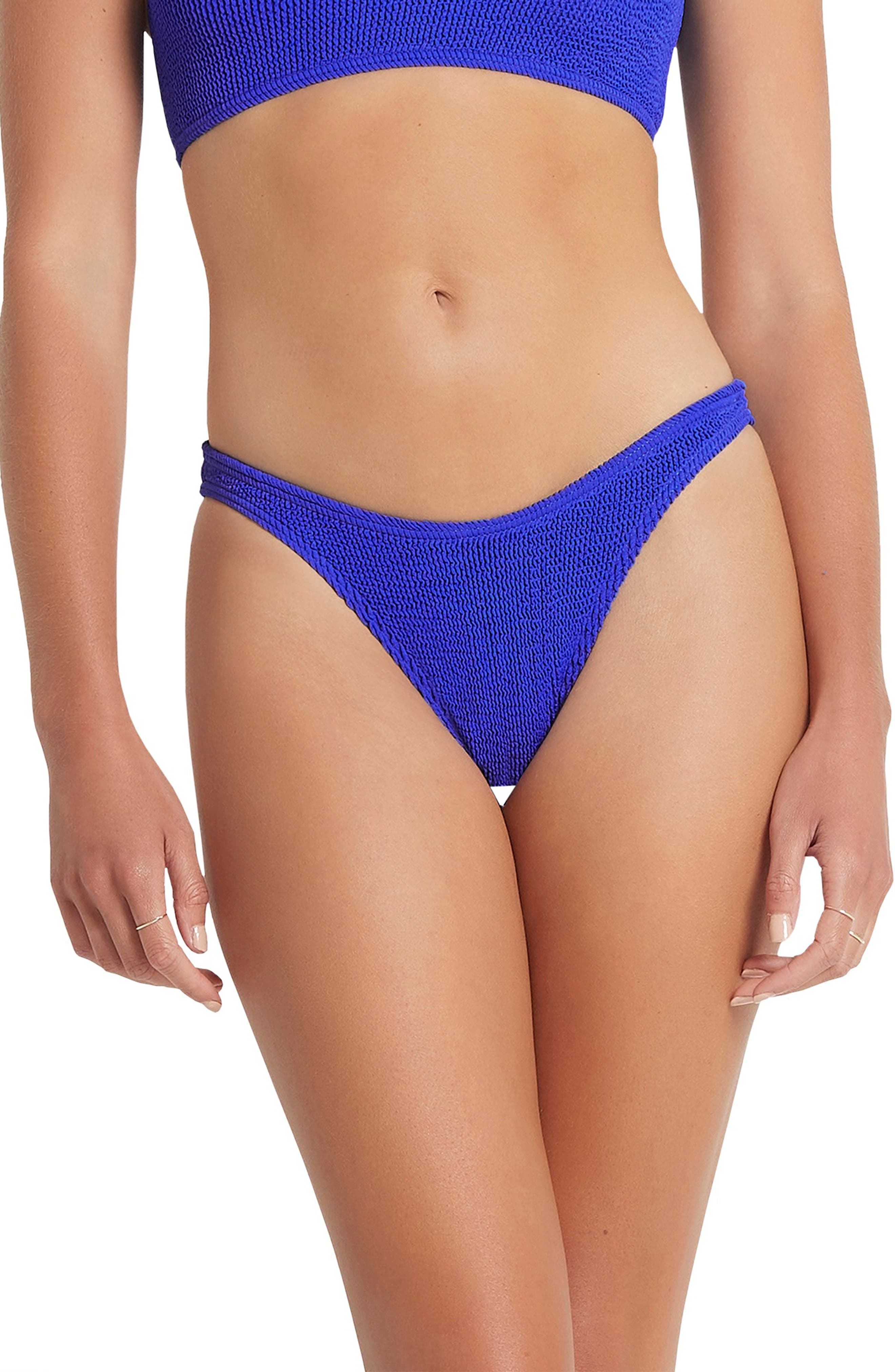 The Scene High-Cut Ribbed Bikini Bottoms