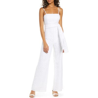 Lilly Pulitzer Nila Lace Jumpsuit, White