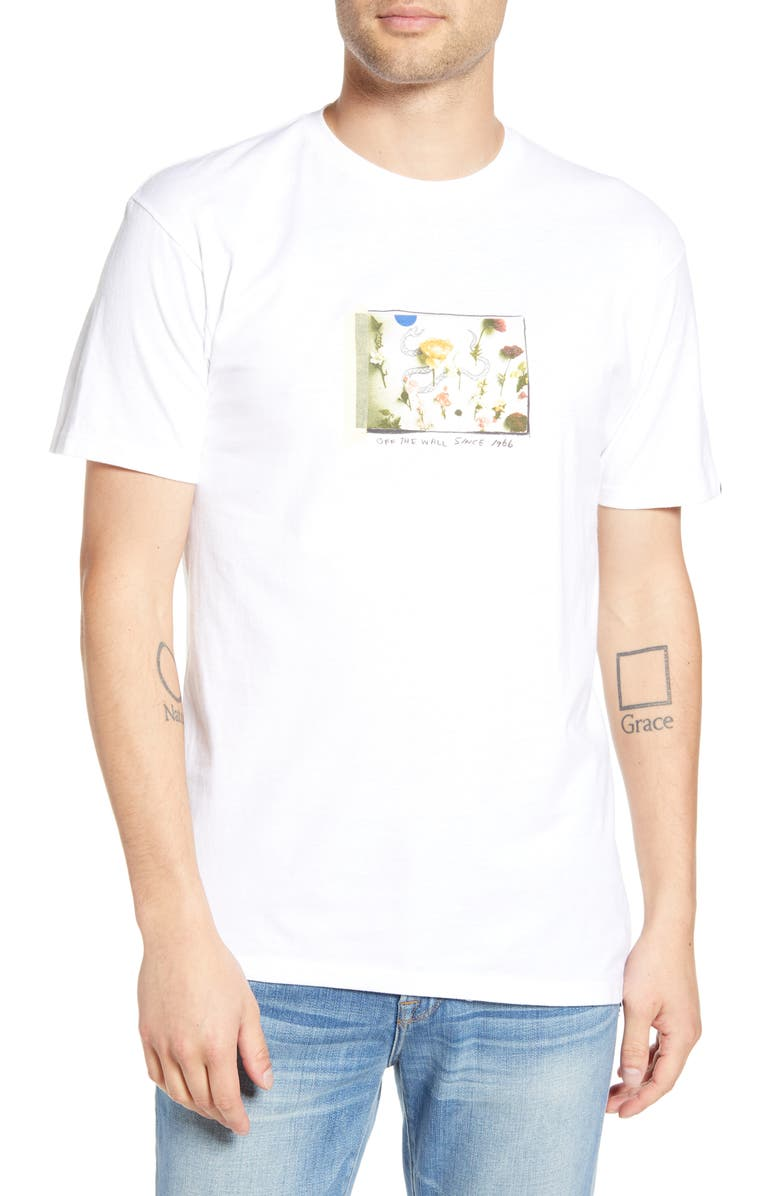 VANS Tide Pool Graphic T-Shirt, Main, color, WHITE
