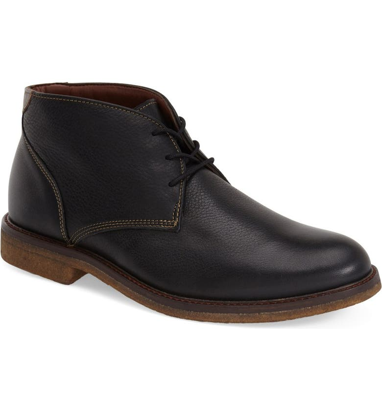JOHNSTON & MURPHY 'Copeland' Suede Chukka Boot, Main, color, BLACK LEATHER