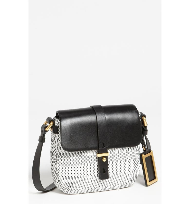 MARC JACOBS MARC BY MARC JACOBS 'Werdie Weavy - Isabella' Faux Leather Crossbody Bag, Main, color, 100