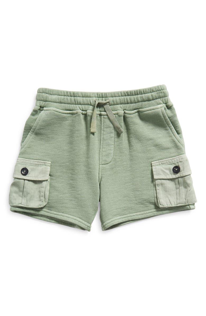 TUCKER + TATE x Smithsonian Kids' Adventure Knit Cargo Shorts, Main, color, GREEN HEDGE