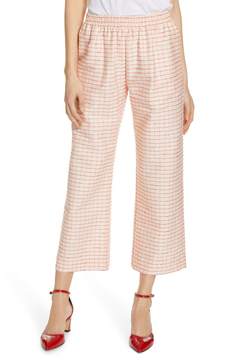 STINE GOYA Debra Plaid Wide Leg Pants, Main, color, 650