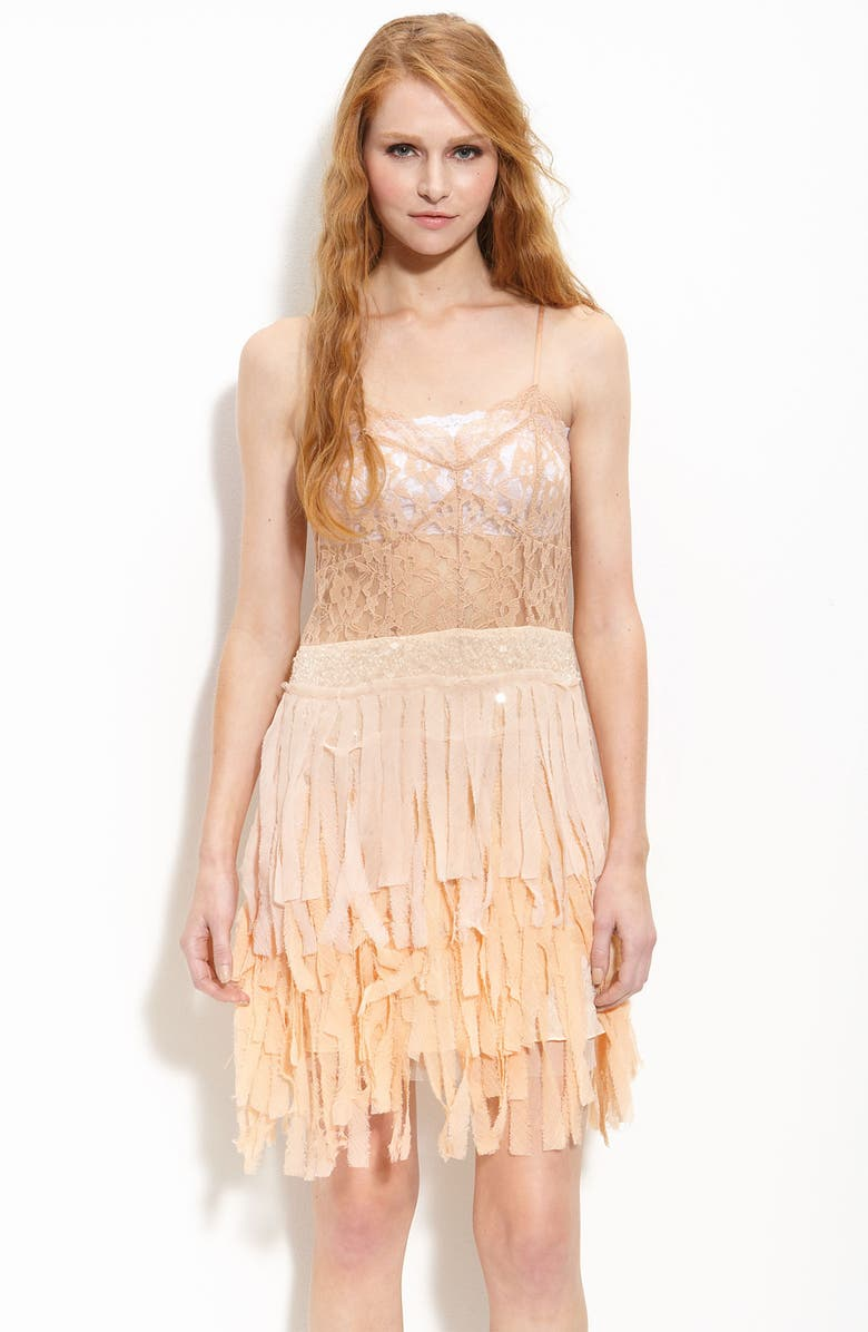 FREE PEOPLE Sheer Lace & Chiffon Dress, Main, color, 950