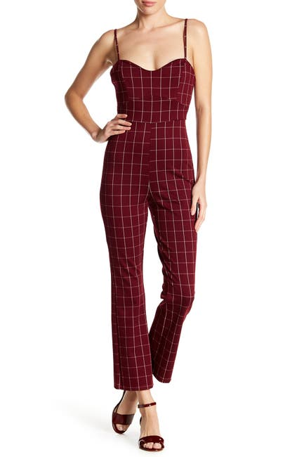 Image of EMORY PARK Plaid Print Jumpsuit