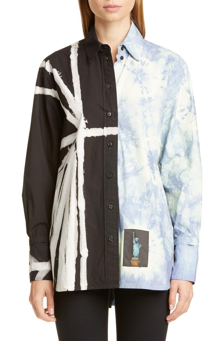 PROENZA SCHOULER Multi Tie Dye Shirt, Main, color, 004
