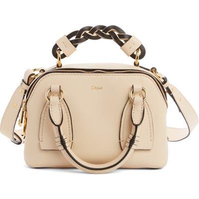Chloe Small Daria Leather Day Bag - Beige