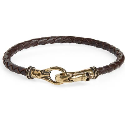 John Varvatos Braided Leather Bracelet