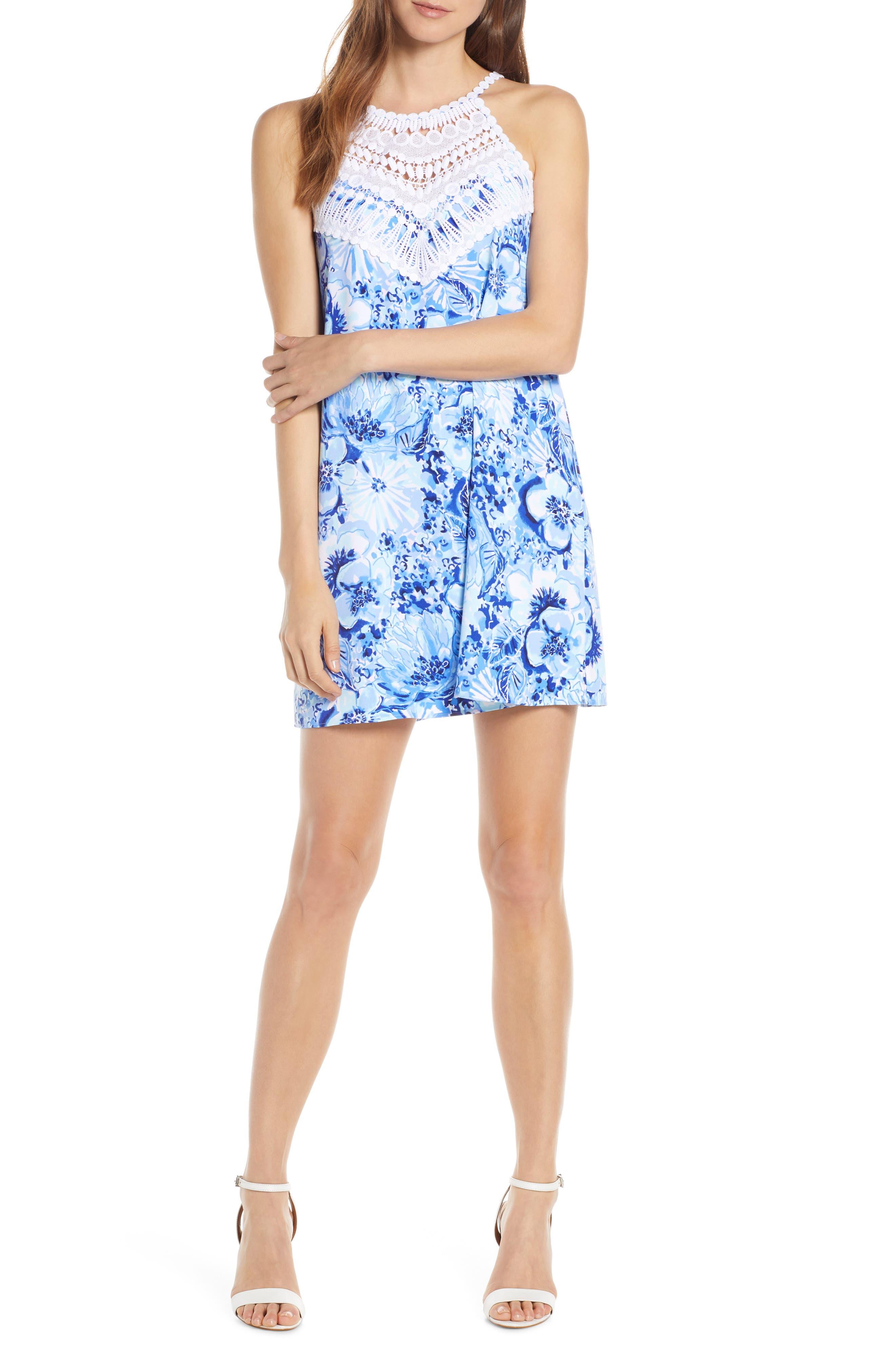 Lilly Pulitzer Printed Sleeveless Shift Dress, Blue