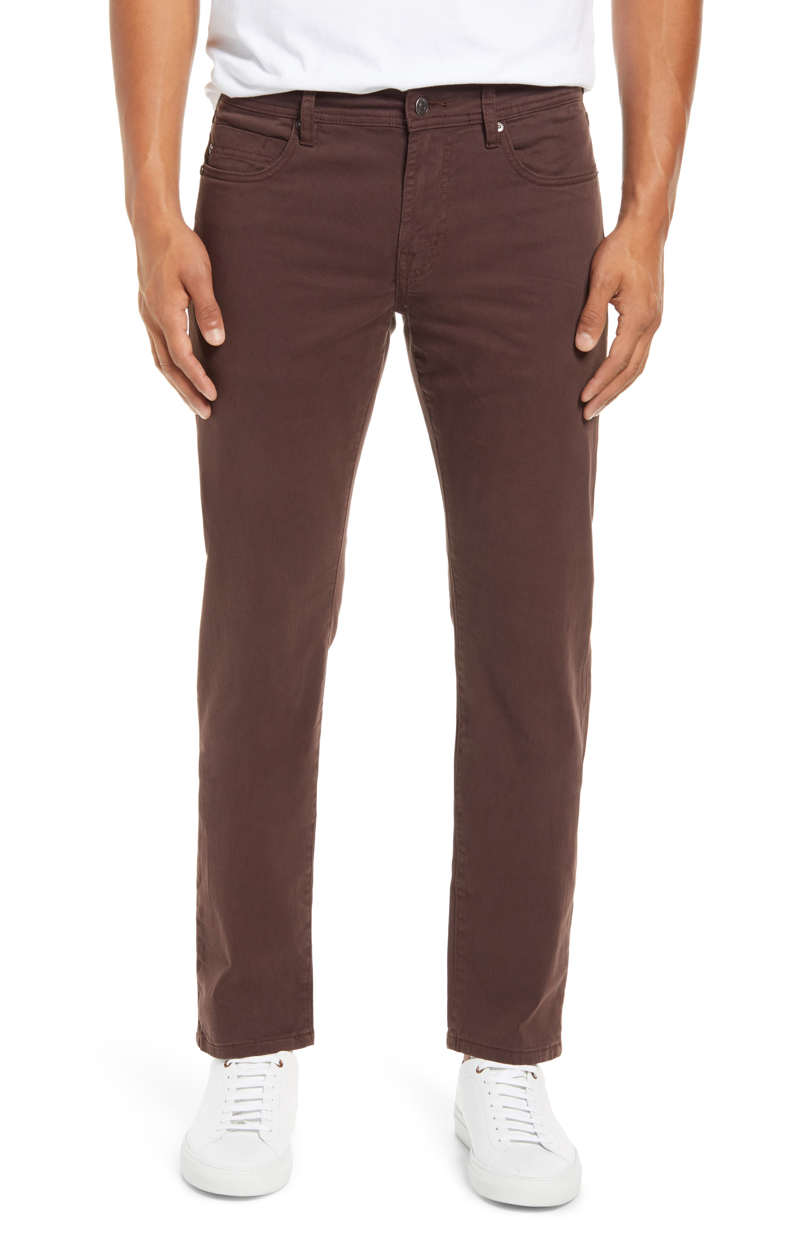 Fresh, unexpected coloring gives you a bold alternative to your everyday denim in five-pocket twill pants made with straight legs and a touch of stretch. Style Name: Liverpool Kingston Modern Men\\\'s Straight Leg Twill Pants. Style Number: 6105715. Available in stores.