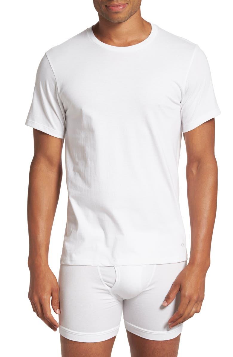 CALVIN KLEIN 2-Pack Cotton T-Shirt, Main, color, WHITE
