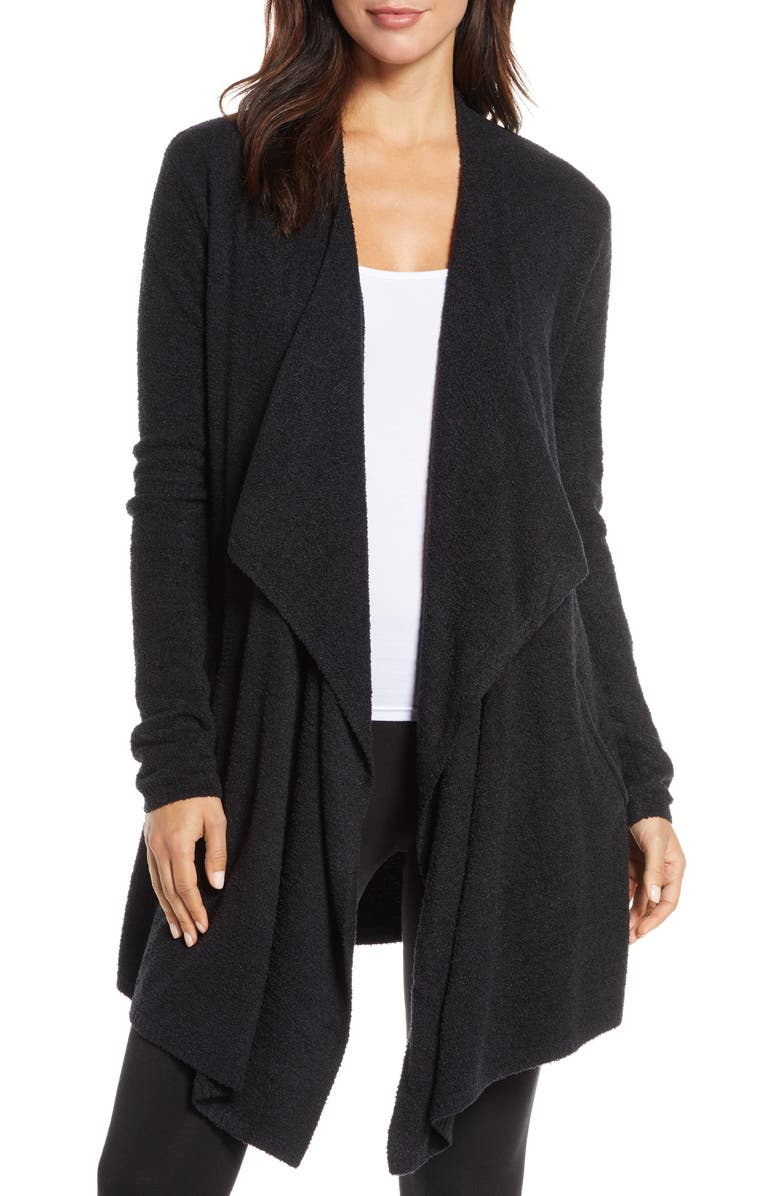 BAREFOOT DREAMS<SUP>®</SUP> CozyChic<sup>™</sup> Lite Island Cardigan, Main, color, BLACK