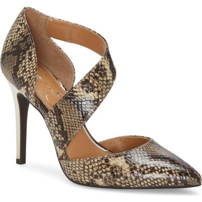 Jessica Simpson Pintra Pointed Toe Pump, Brown