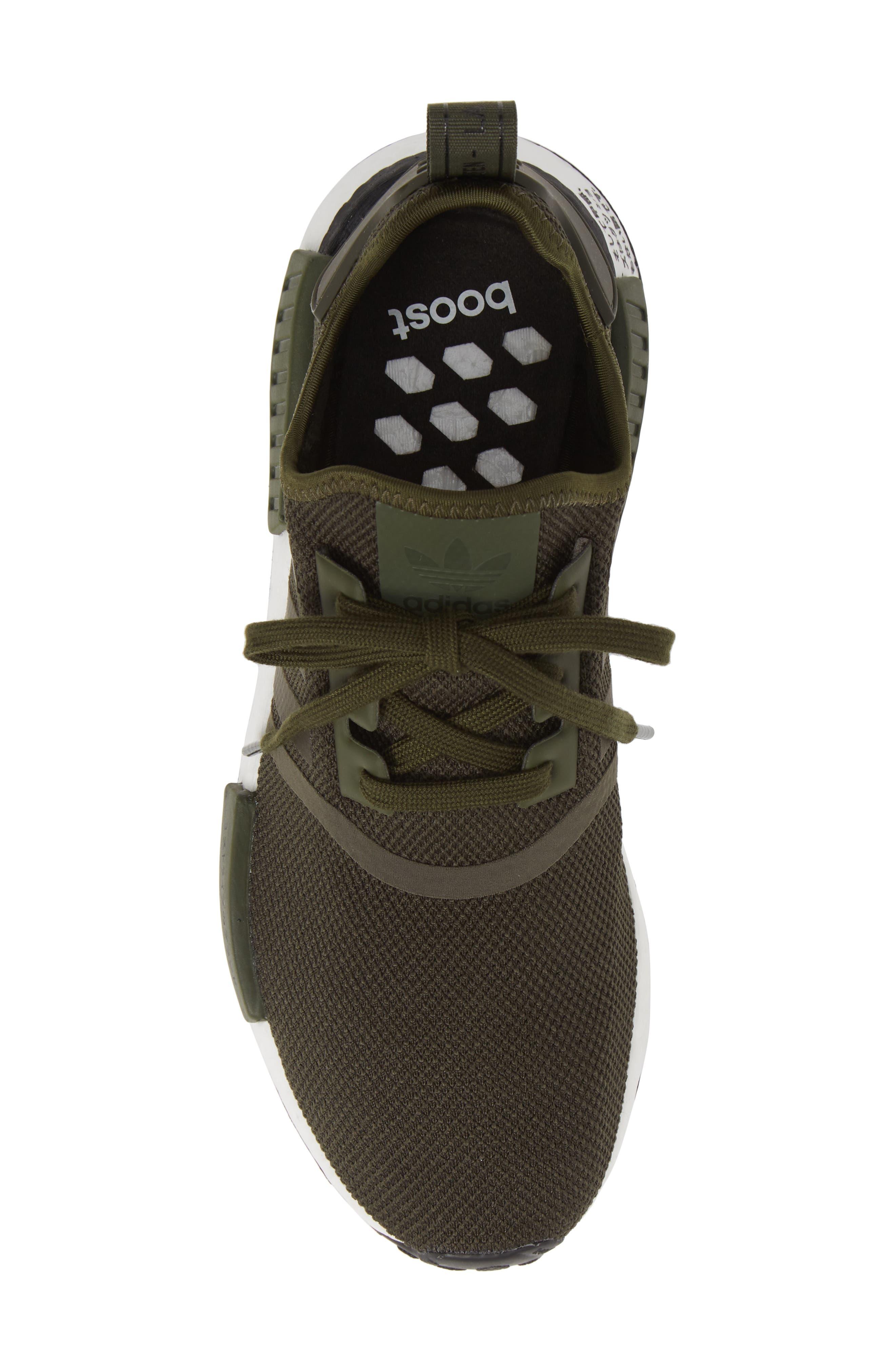 ,                             Originals NMD R1 Sneaker,                             Alternate thumbnail 5, color,                             NIGHT CARGO/ BLACK