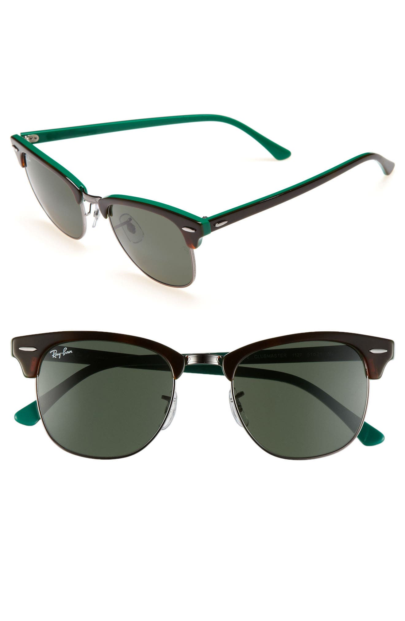 ,                             Classic Clubmaster 51mm Sunglasses,                             Alternate thumbnail 3, color,                             200