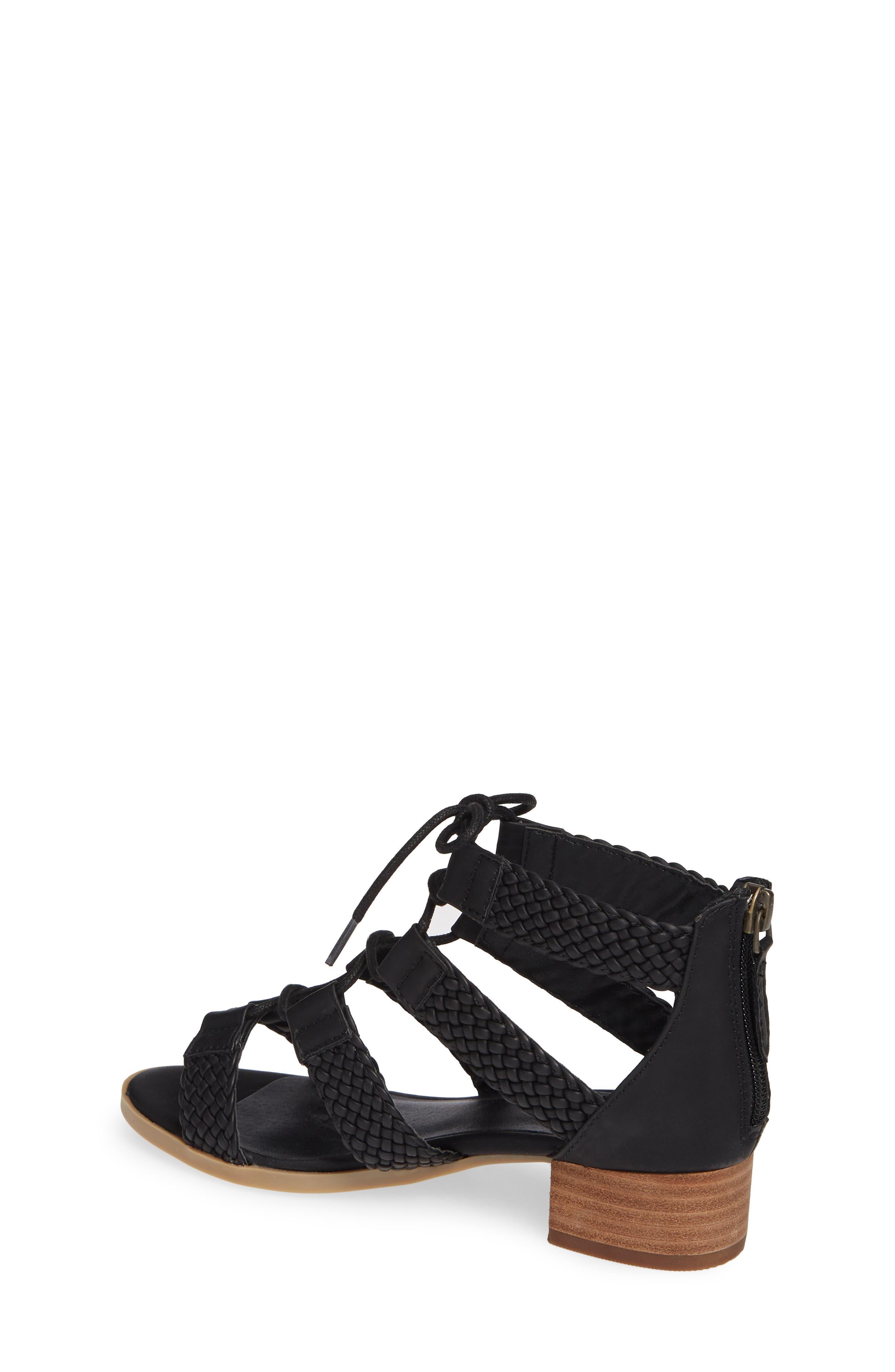 ,                             Layla Block Heel Sandal,                             Alternate thumbnail 2, color,                             BLACK FAUX LEATHER