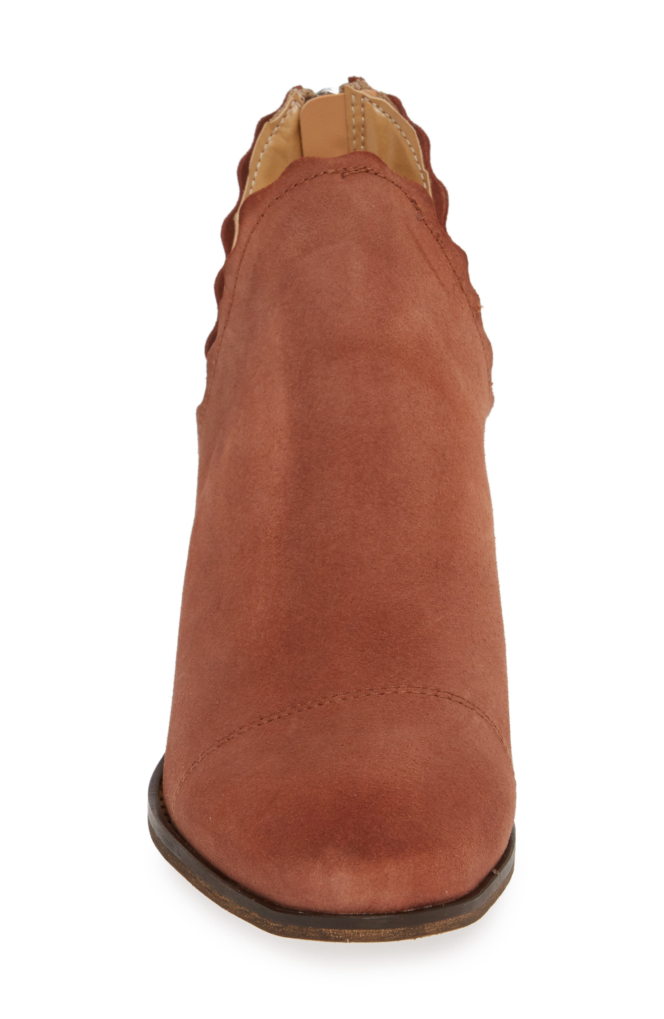 ,                             Bae Scalloped Bootie,                             Alternate thumbnail 4, color,                             TERRACOTTA SUEDE