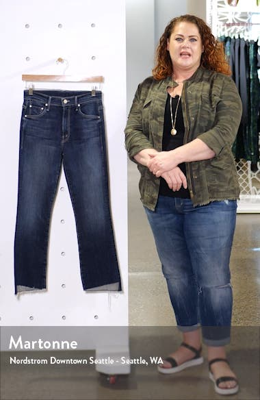The Insider Step Hem Crop Bootcut Jeans, sales video thumbnail
