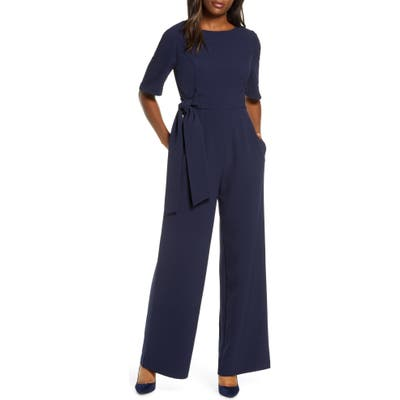 Julia Jordan Wide Leg Jumpsuit, Blue