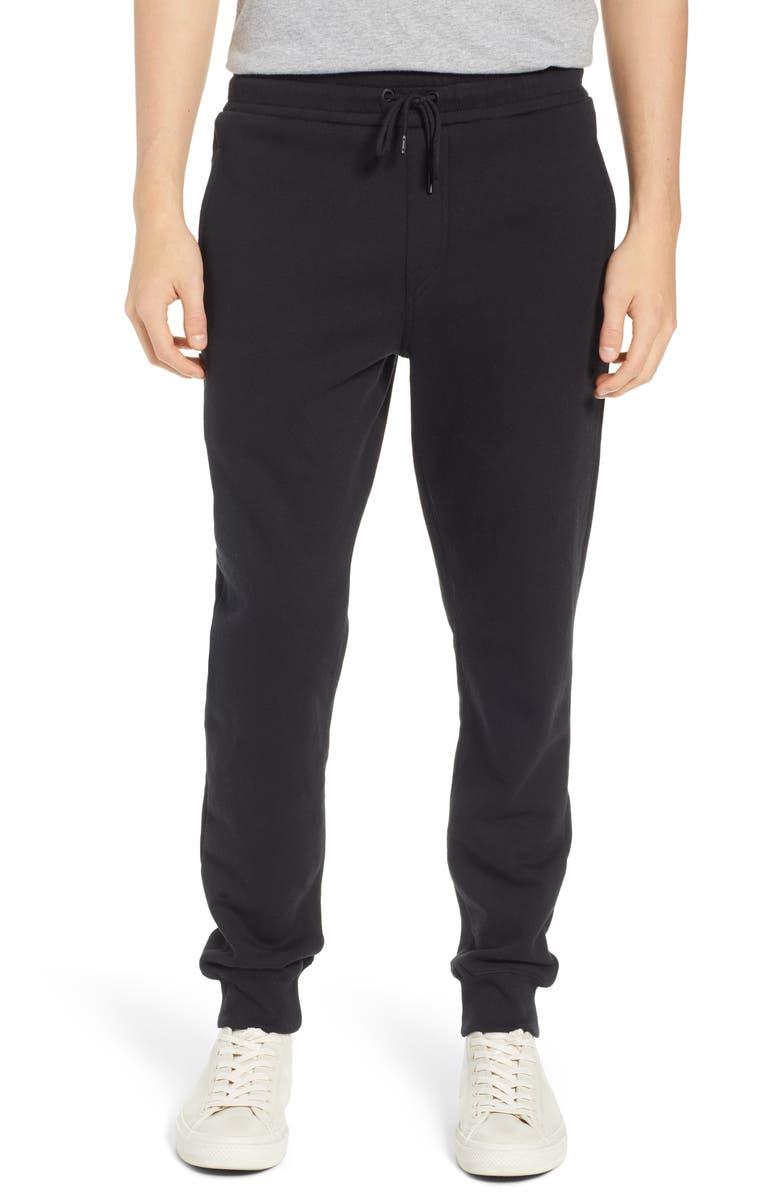 VOLCOM Single Stone Slim Fit Fleece Sweatpants, Main, color, BLACK