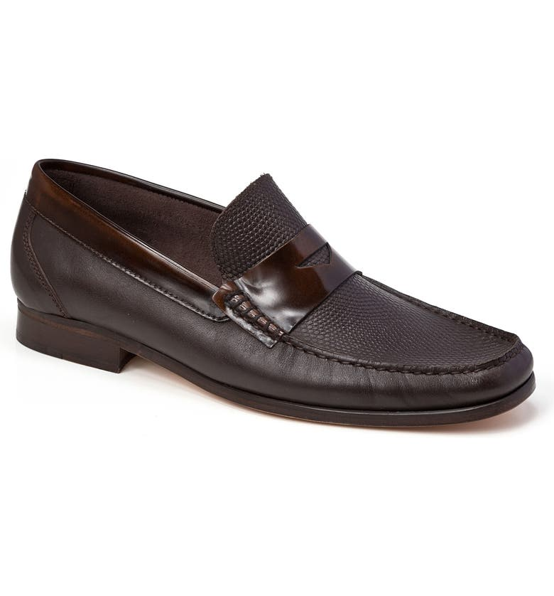 SANDRO MOSCOLONI Bilbao Pebble Embossed Penny Loafer, Main, color, 200