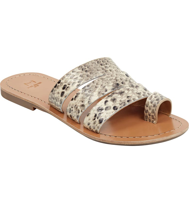 MARC FISHER LTD Rilee Slide Sandal, Main, color, SNAKESKIN LEATHER