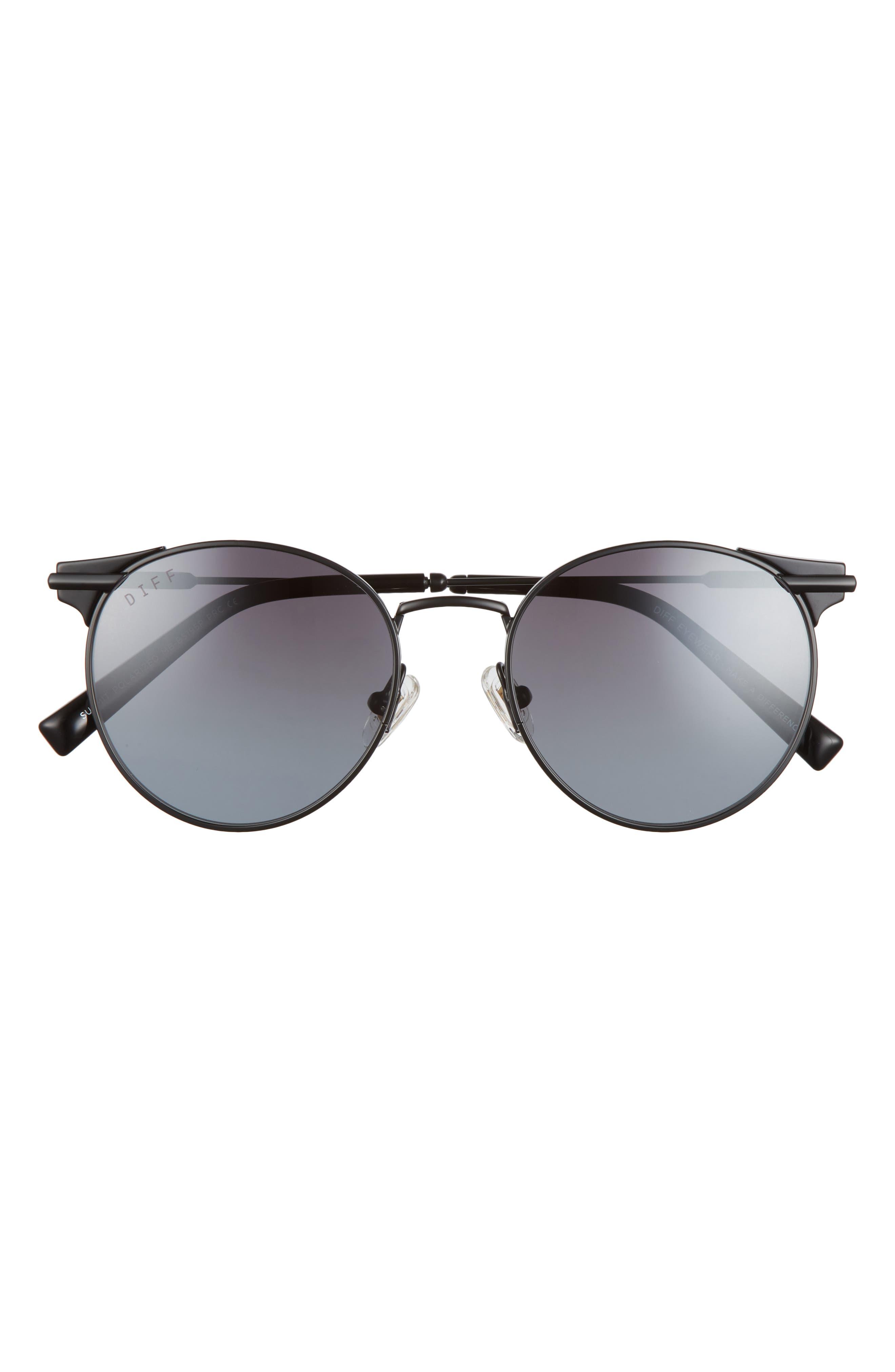 Summit 53mm Gradient Polarized Round Sunglasses