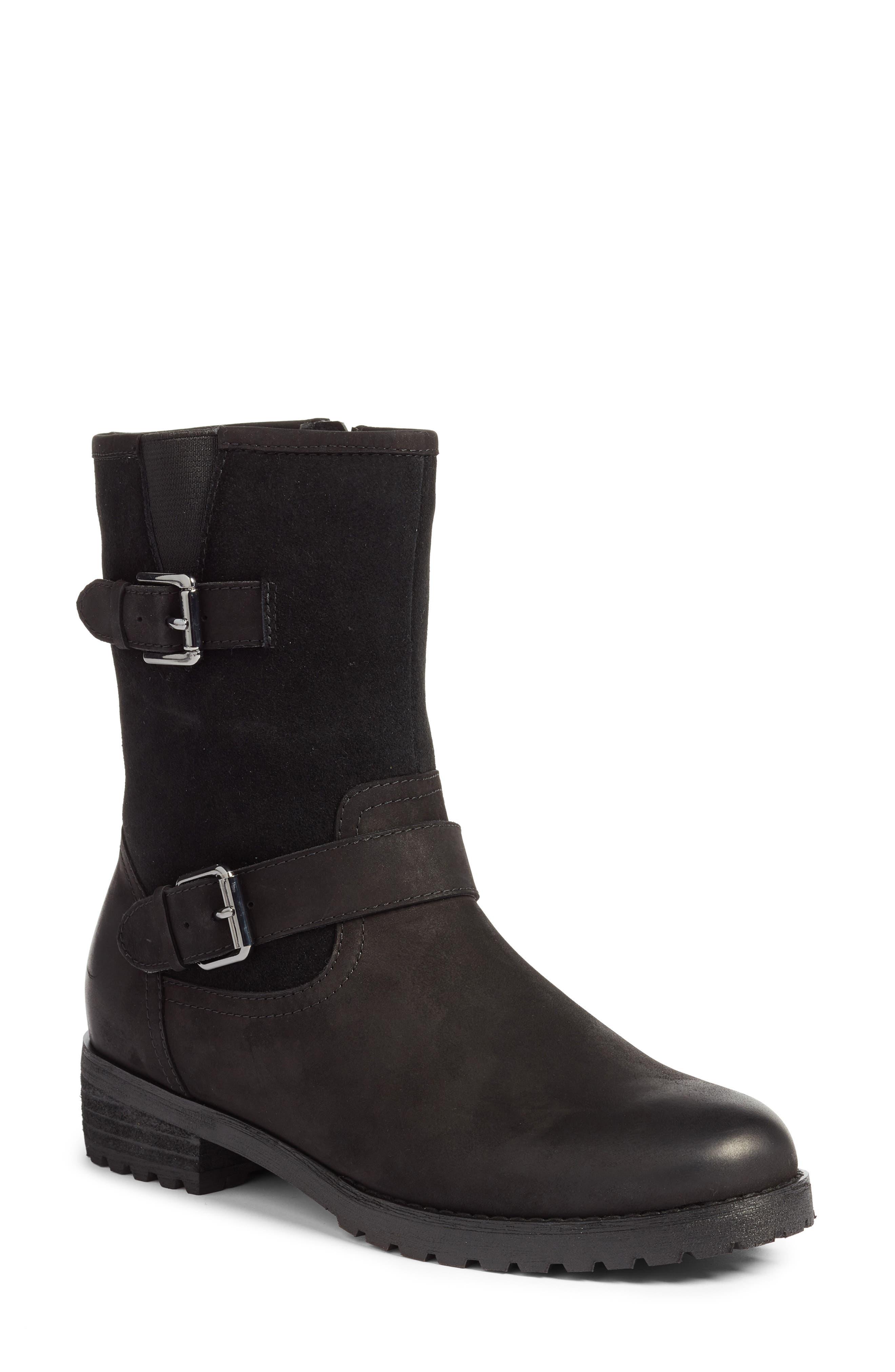 Val Waterproof Boot, Main, color, BLACK NUBUCK LEATHER