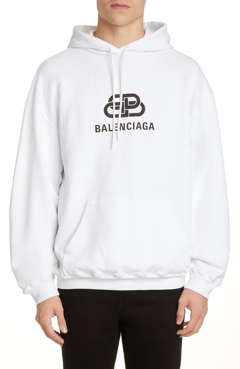 Bb Logo Graphic Hoodie by Balenciaga