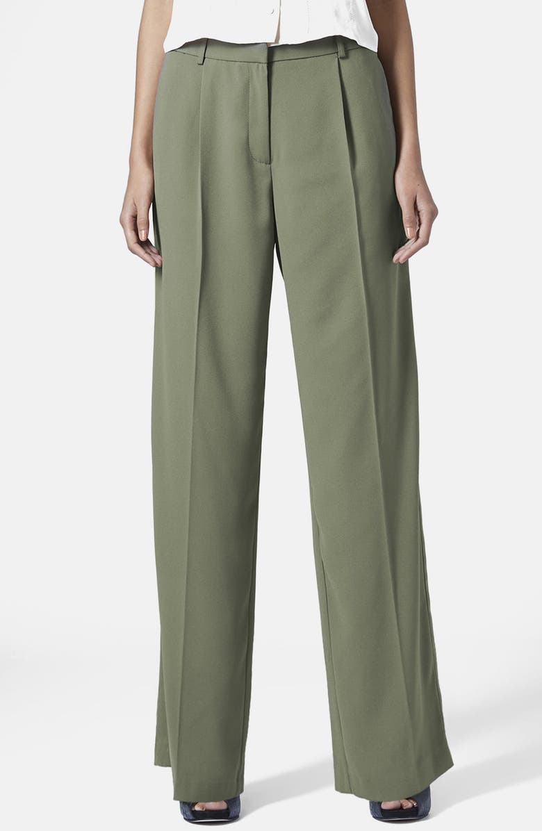 TOPSHOP Slouchy Trousers, Main, color, 300