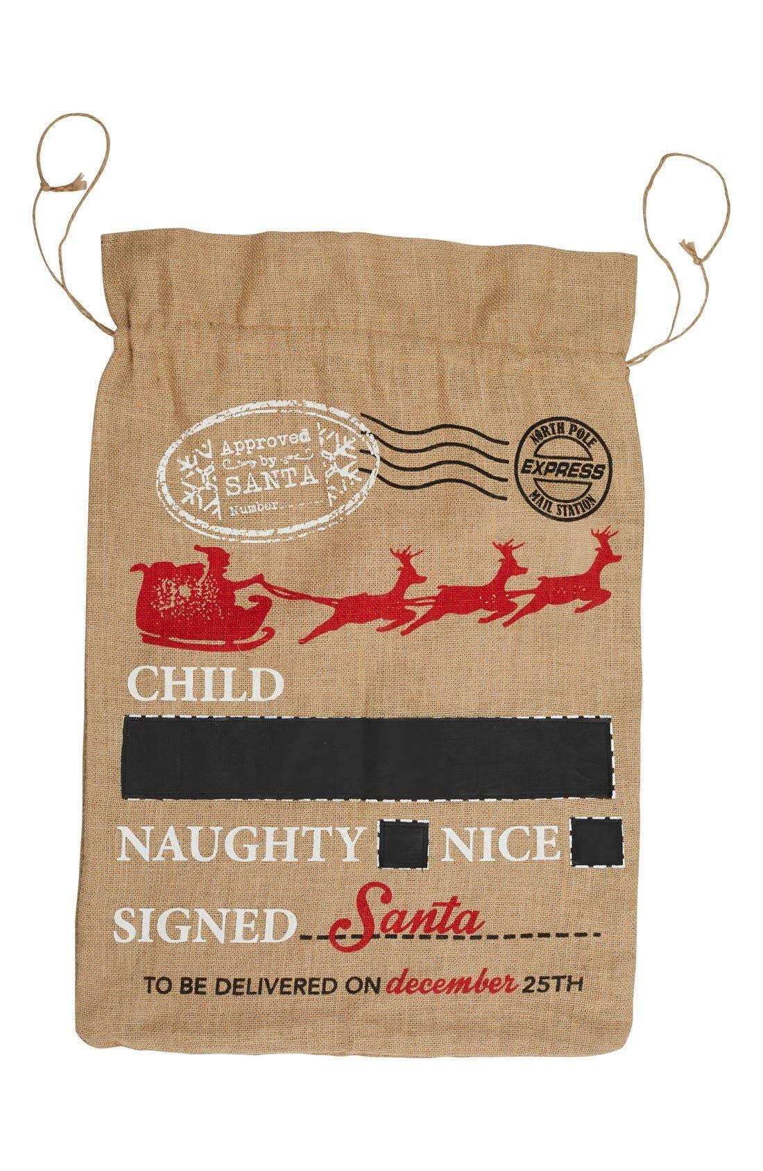 Naughty /& Nice Heels Barre Sock Bag