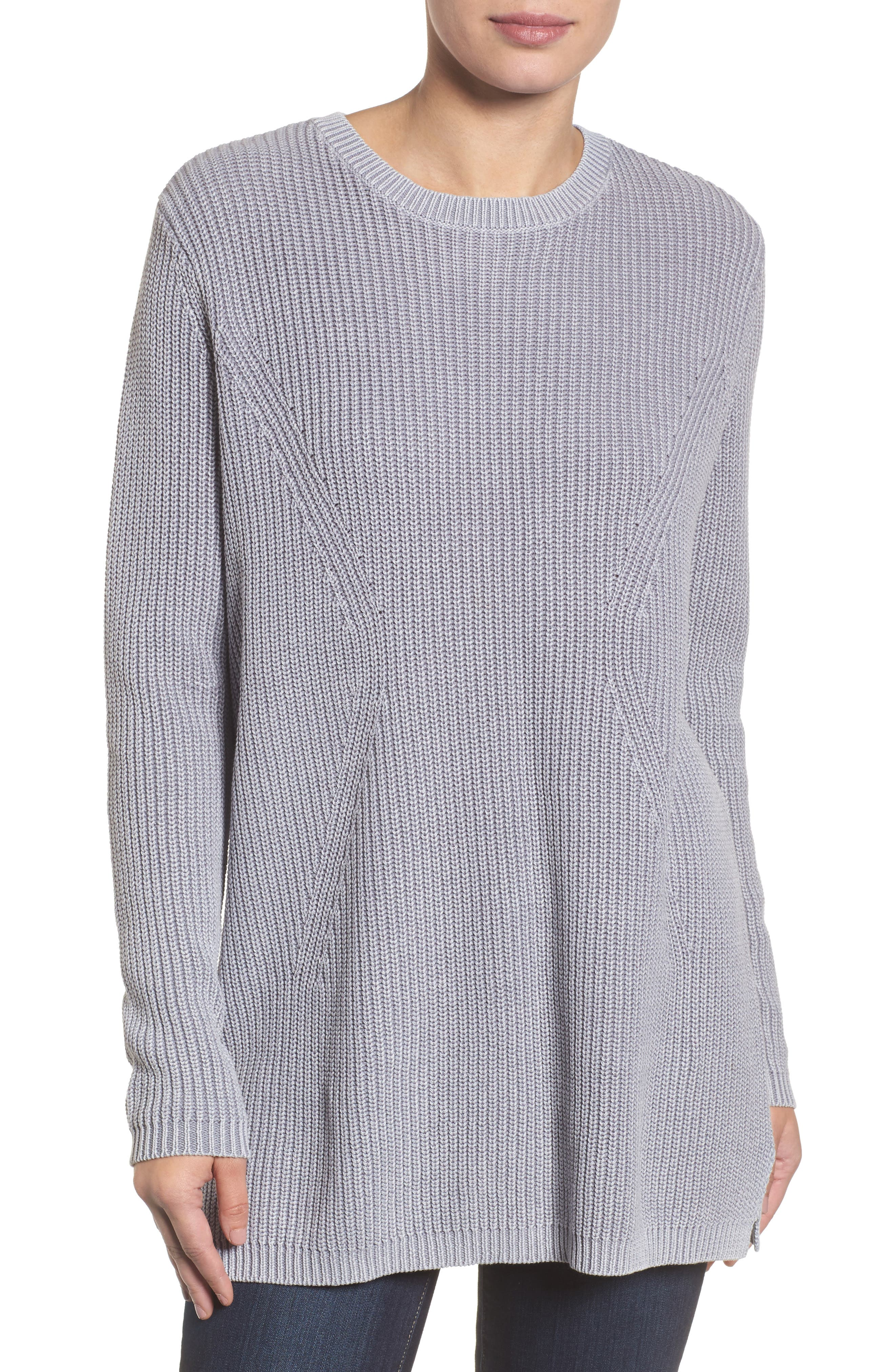 ,                             Tie Back Tunic Sweater,                             Main thumbnail 49, color,                             420