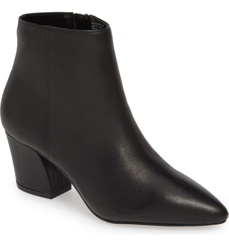 STEVE MADDEN Missie Bootie, Main, color, BLACK LEATHER