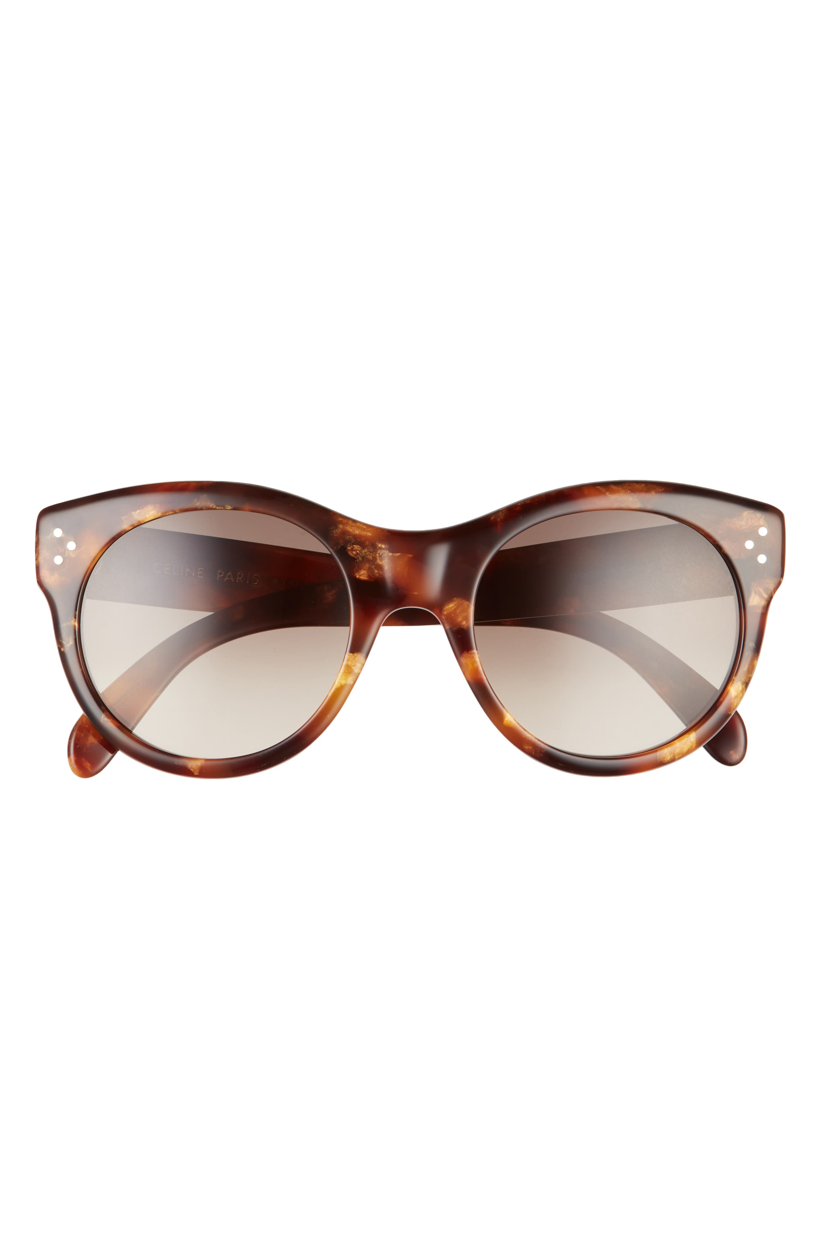 53mm Gradient Round Sunglasses