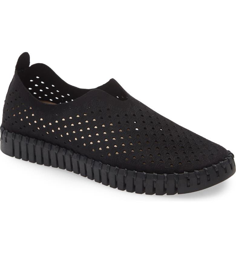 ILSE JACOBSEN Tulip 139 Perforated Slip-On Sneaker, Main, color, 003