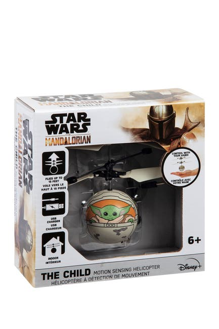 Image of World Tech Toys Star Wars The Mandalorian The Child In Pram Printed Motion Sensing UFO Ball Helicopter