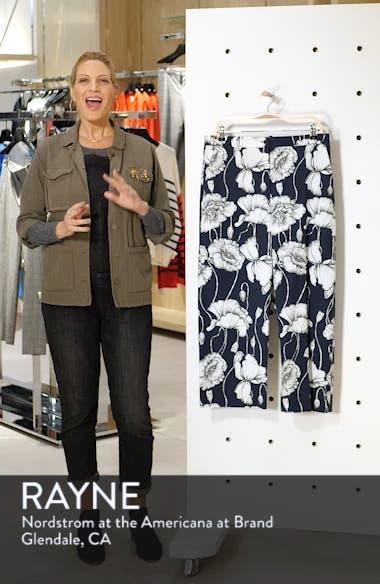 Floral Print Wide Leg Crop Pants, sales video thumbnail