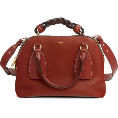 Chloe Medium Daria Leather Day Bag - Brown