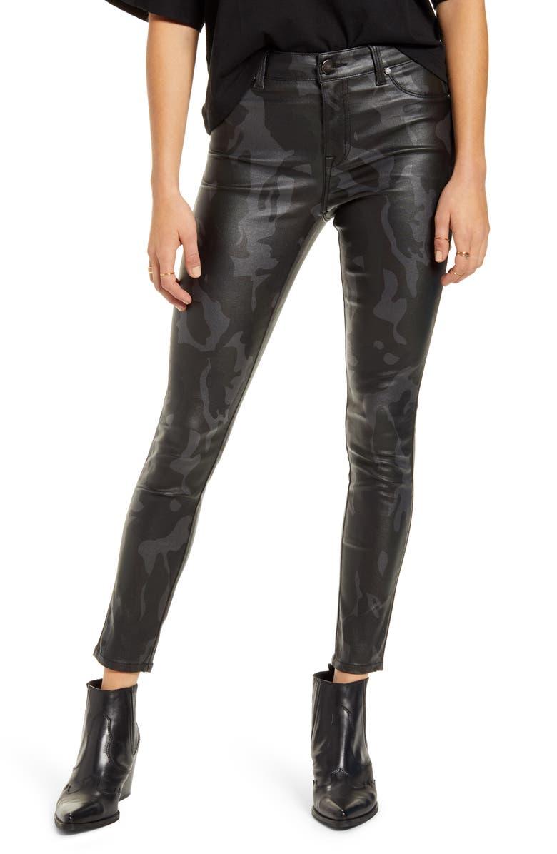 1822 DENIM Coated High Waist Ankle Skinny Jeans, Main, color, 040