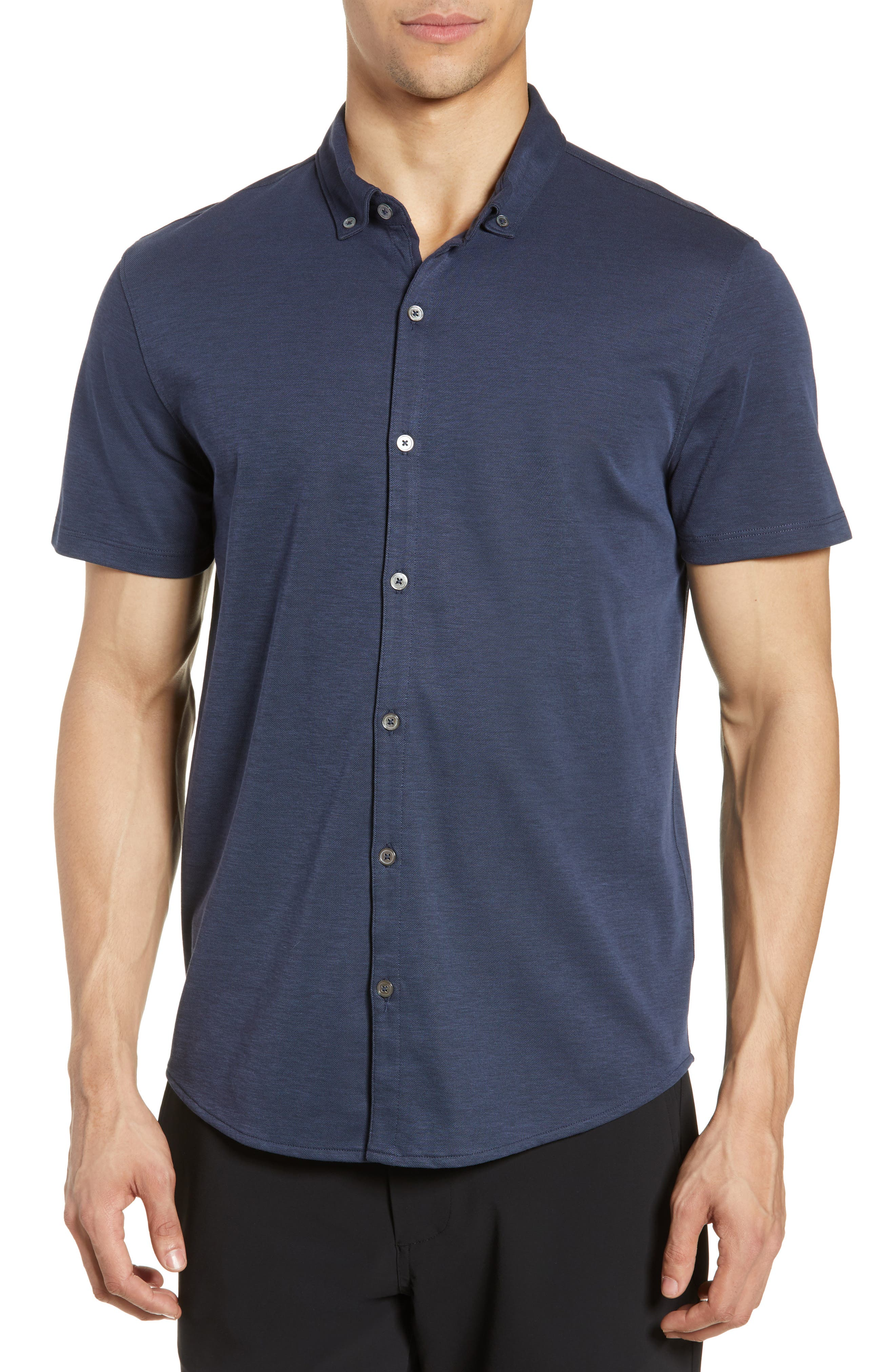 ,                             Caruth Regular Fit Short Sleeve Sport Shirt,                             Main thumbnail 19, color,                             410