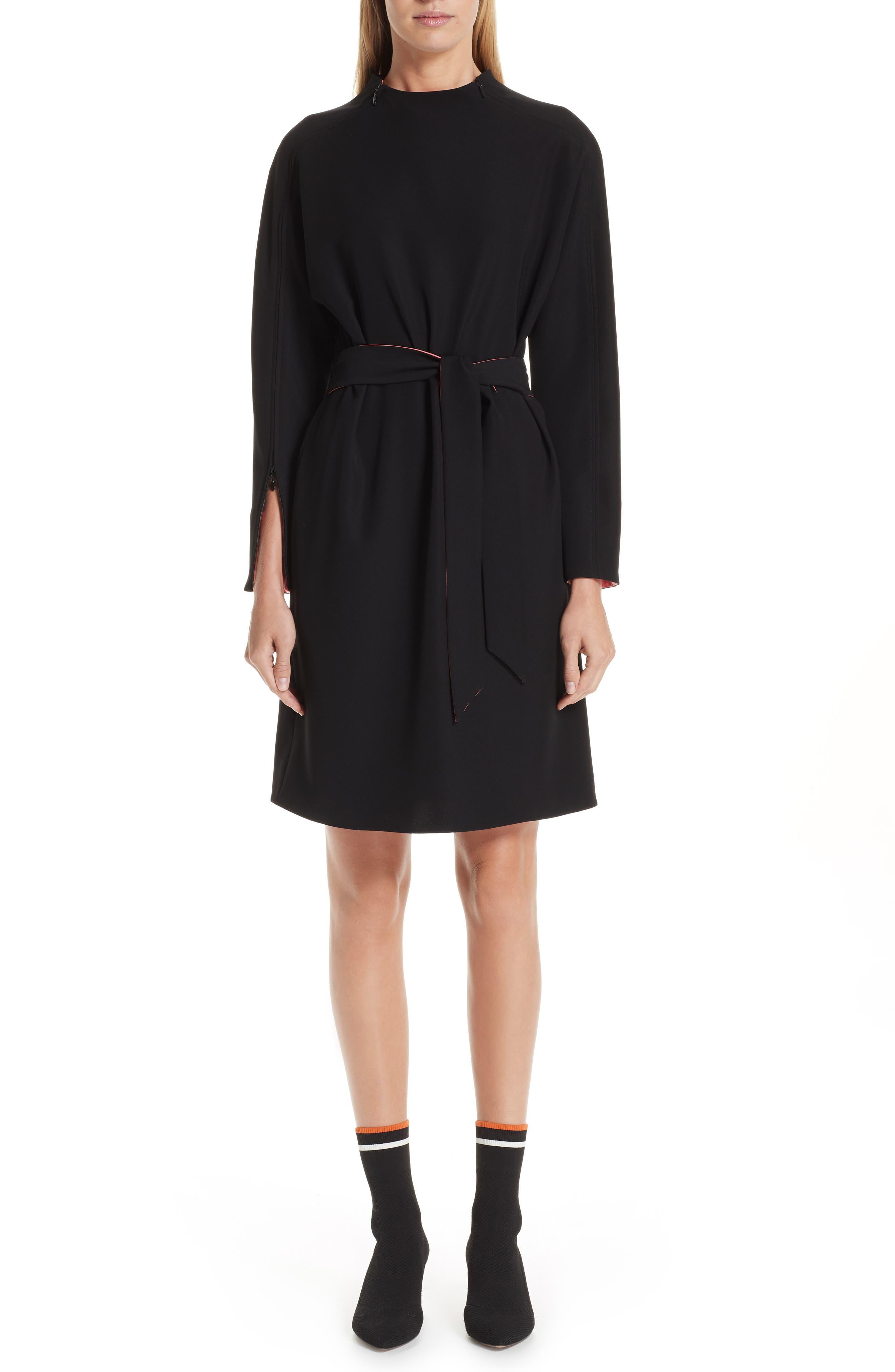 Emporio Armani Woven Dress, US / 42 IT - Black