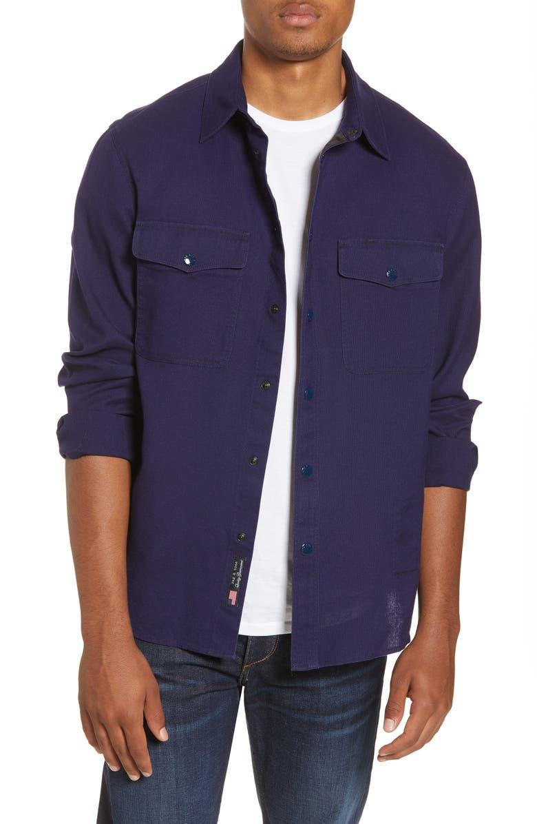 RAG & BONE Shirt Jacket, Main, color, NAVY