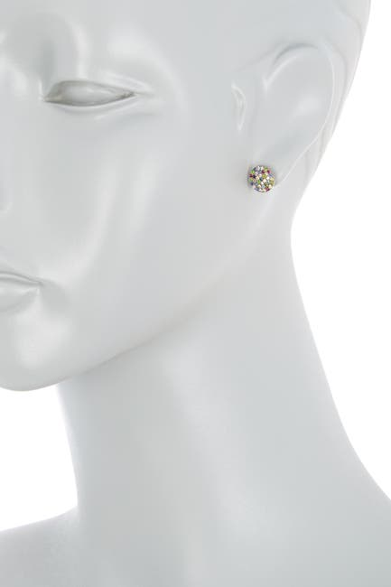 Image of ADORNIA Fine 10mm Mixed Sapphire Disc Stud Earrings