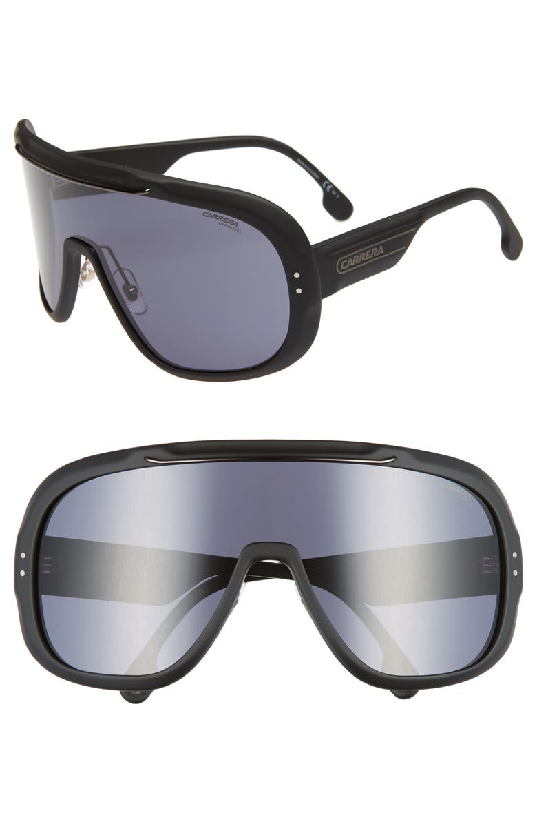 CARRERA EYEWEAR Epica 99mm Shield Sunglasses, Main, color, 001