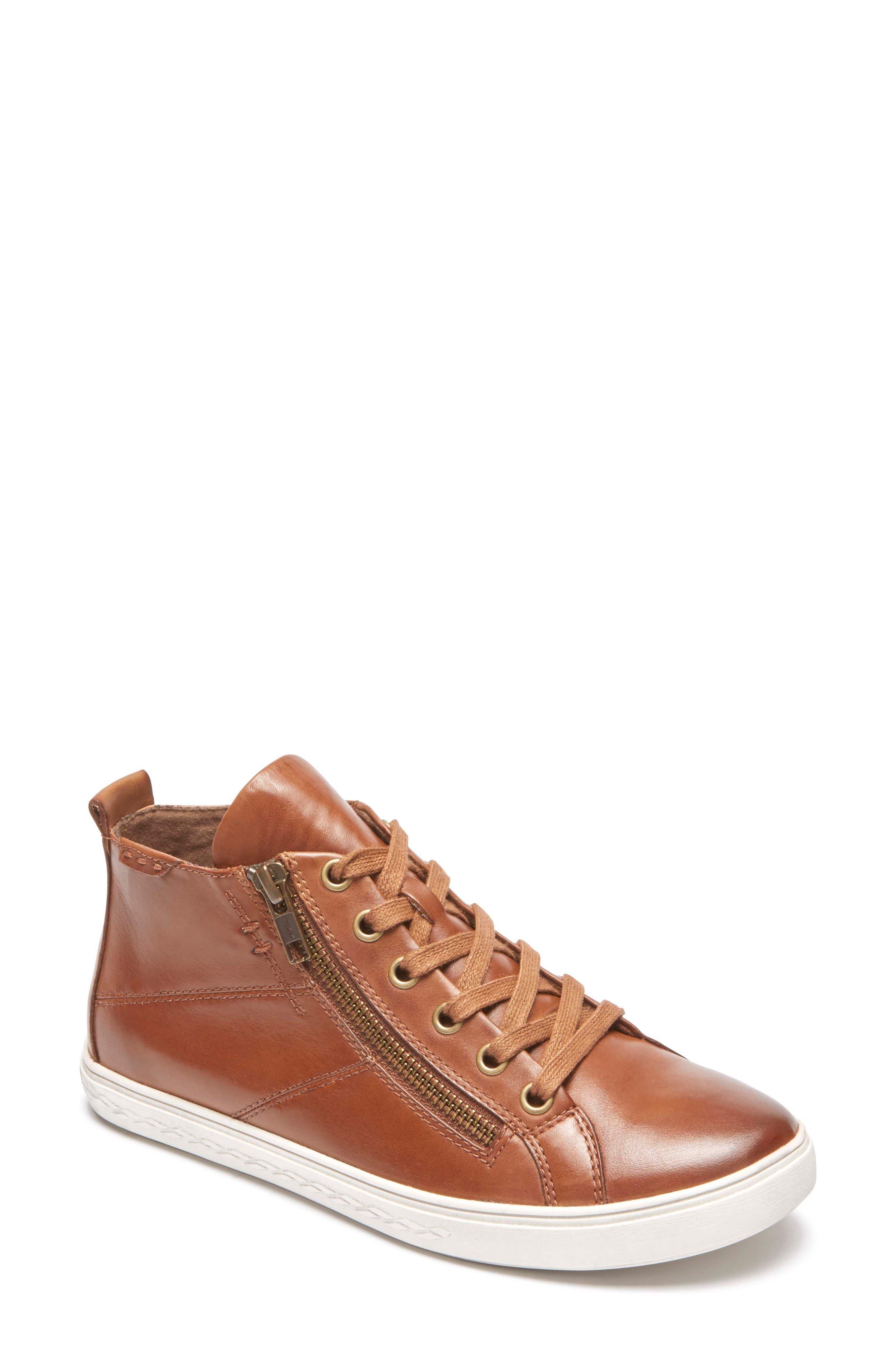 Rockport Cobb Hill Willa High Top Sneaker- Brown
