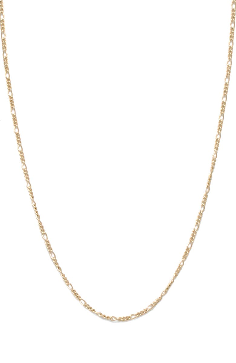 ABLE Figaro Chain Necklace, Main, color, GOLD